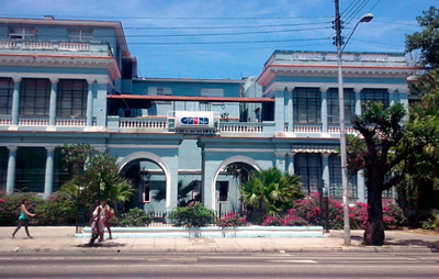 The main office of the Cuban Information Agency (AIN).