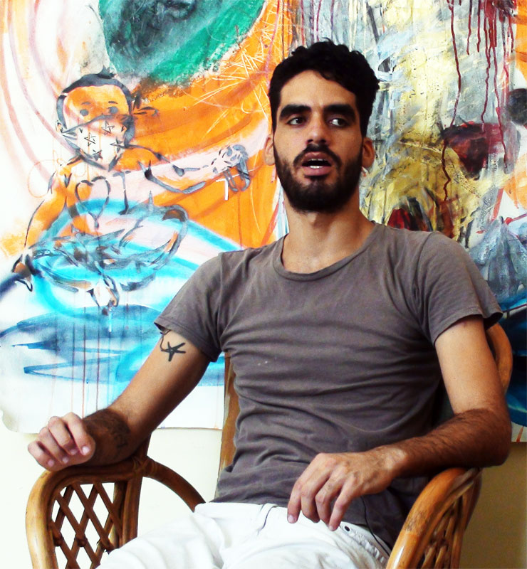 Imprisoned graffiti artist El Sexto.
