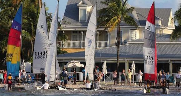 Sailboats at the  Marina Hemingway in Havana.