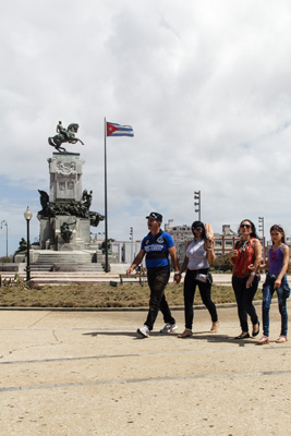The Maceo Park in Havana.  Photo: Juan Suarez