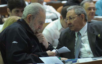 Fidel and Raul Castro at the National Assembly in 2013.  Foto: cubadebate.cu