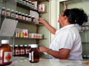 A Cuban pharmacy.