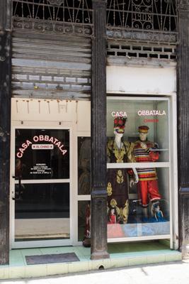 Havana business selling religious ornaments.  Photo: Juan Suarez