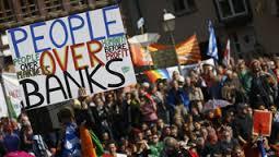 People over banks democ. now