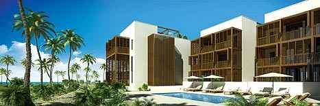 Architect's rendering of the Carbonera Club hotel complex near Varadero, a British-Cuban joint venture to be built next year.