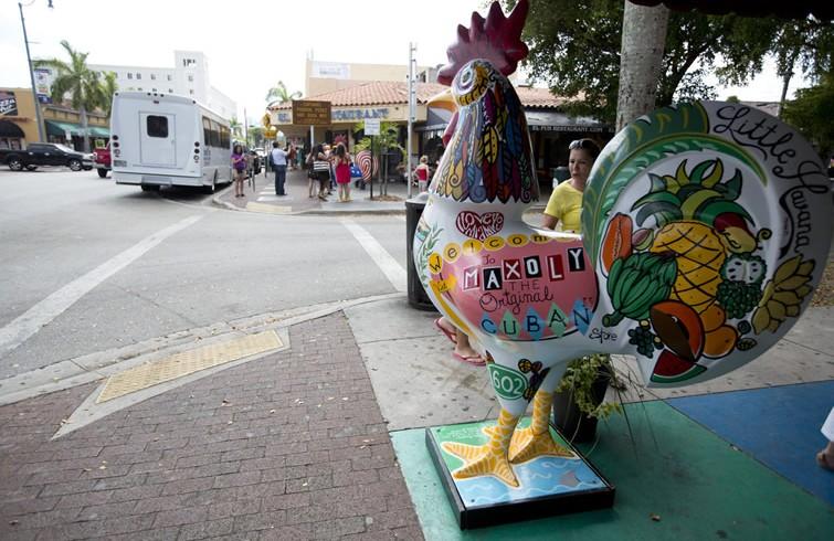 Little Havana, Miami. Foto: J Pat Carter, OnCuba/AP
