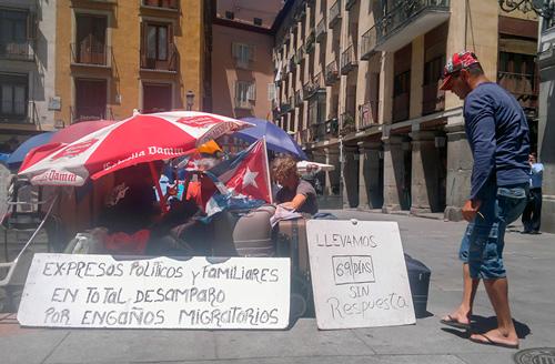 Los que se fueron a España acusaron primero al Cardenal y después también al Gobierno español.  Foto: Raquel Pérez Díaz
