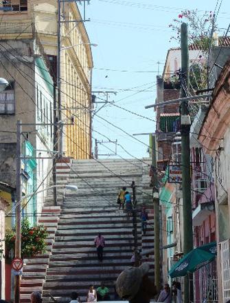 The Padre Pico stairway in Santiago de Cuba.  Photo: Janis Hernandez