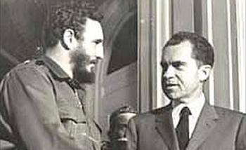 Fidel Castro and Richard Nixon in April, 1959.