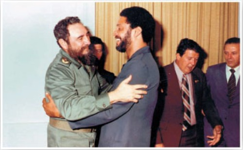 Fidel Castro and Maurice Bishop.  Photo: cubadebate.cu