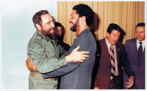 Fidel Castro and Maurice Bishop.  Photo: cubadebate.cu