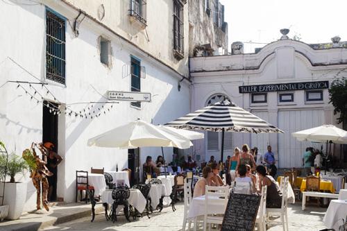 Private restaurant in Old Havana.