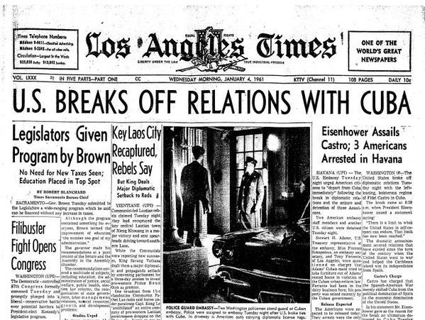 US Breaks relations with Cuba