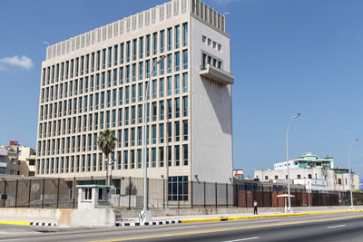 The United States Embassy in Havana.