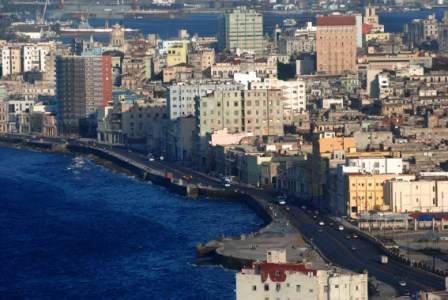 Havana coastline from the heights.  Photo: Caridad