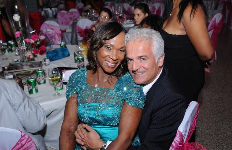 Ana Fidelia and her husband Riccardo Folle.