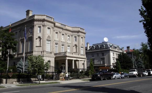 The Cuban embassy building in Washington D.C.  Foto: tvcamaguey.icrt.cu