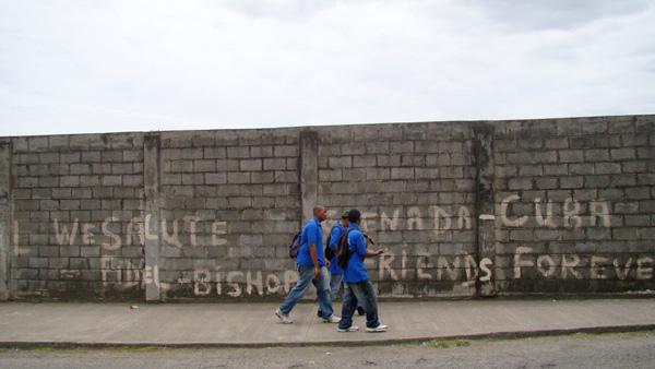 Roadside Grafitti in St. George's, Grenada.  Photo: Shalini Puri