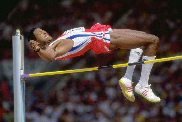 Aug 1993:  Javier Sotomayor of Cuba clears the bar during the High Jump event at the World Championships at the Gottlieb Daimler Stadium in Stutttgart, Germany. Sotomayor won the gold medal in this event.  Mandatory Credit: Mike  Powell/Allsport/cubadebate.cu