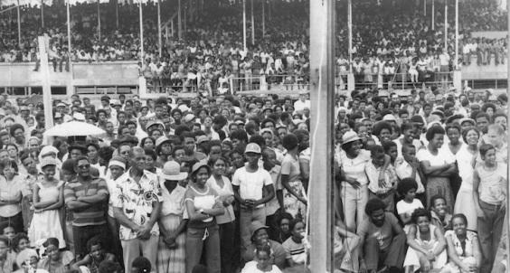 Revolution rally.  Photo: Grenada National Museum