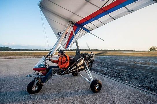 Ultraligero modelo XT-912 utilizado por Jovaisa para su proyecto fotográfico en Cuba. Foto: Unseen Cuba