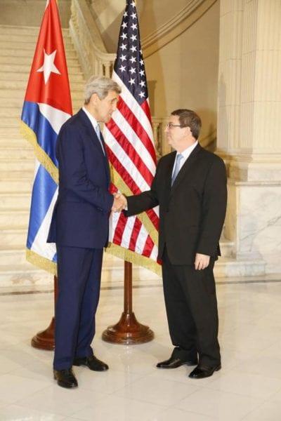 John Kerry y Bruno Rodríguez en La Habana, 14-08-2015.  Foto: cubadebate.cu