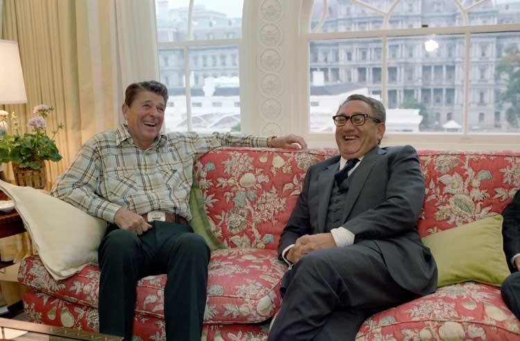 6/10/1981 President meeting with Henry Kissinger.  Fptp wikipedia.org
