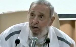 Fidel Castro in a recent public appearance.