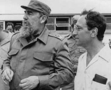 Fidel Castro and Saul Landau in 1989.