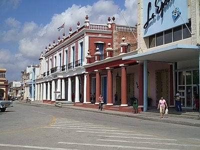 Street in the city of Holguin, Cuba
