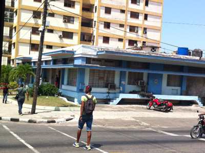 The one-story building is the Military Attorney´s office. The other building is one of several belonging to State Security in Vedado.