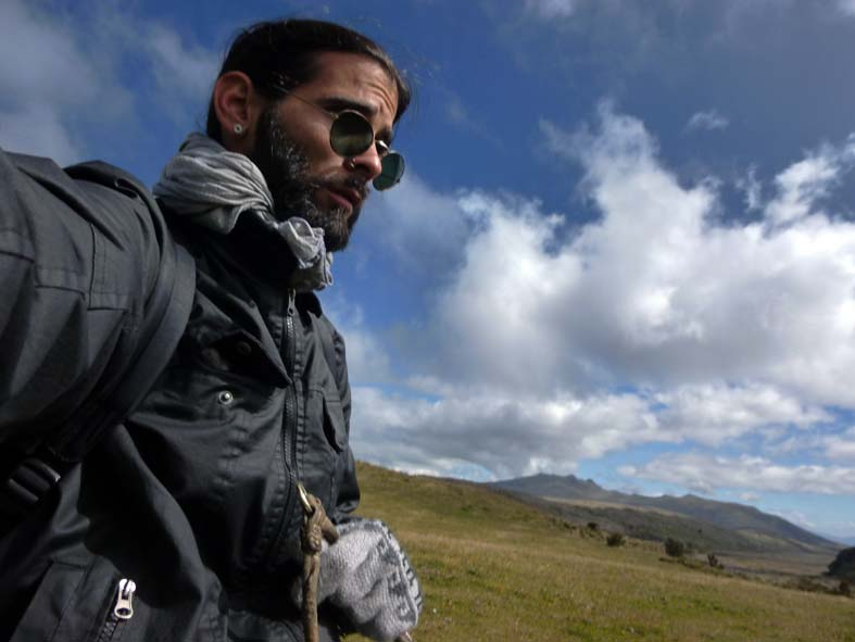 On horseback in the Andes.