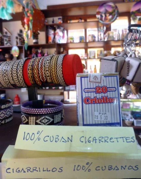 Cuban Criollo cigarettes are even available in the center of the world.