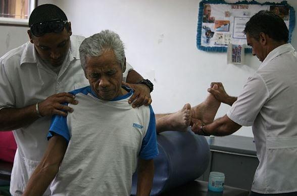 Cuban doctors attending to patients in Venezuela.