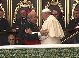 Pope Francis and Cardenal Jaime Ortega in the Havana Cathedral on Sunday Sept. 20.