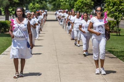Ladies in White along Quinta Avenida in Havana