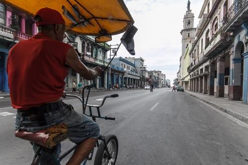 Pedaling around the city. Photo: Juan Suarez