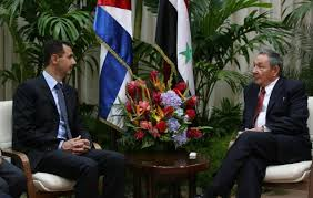 Bashar Al Assad and Raul Castro. Photo: cubadebate.cu