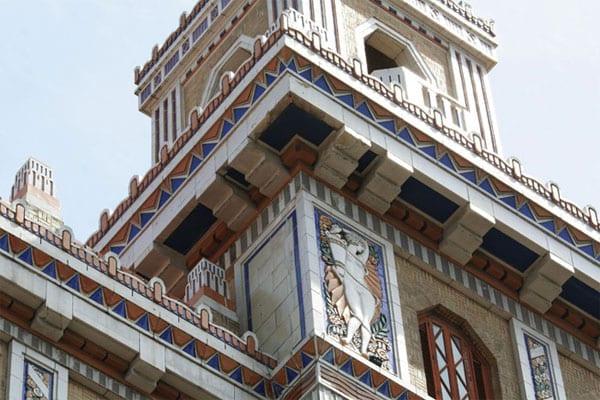 Old Havana's restored Bacardi building.