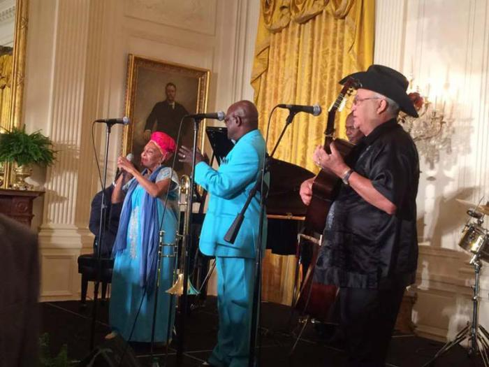 Buena Vista Social Club in the White House on 10-15-2015. Photo: cubadebate.cu