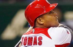 Yasmany Tomas plays for the Arizona Diamondbacks