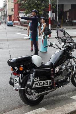 A traffic cop in Havana. Photo: Juan Suarez