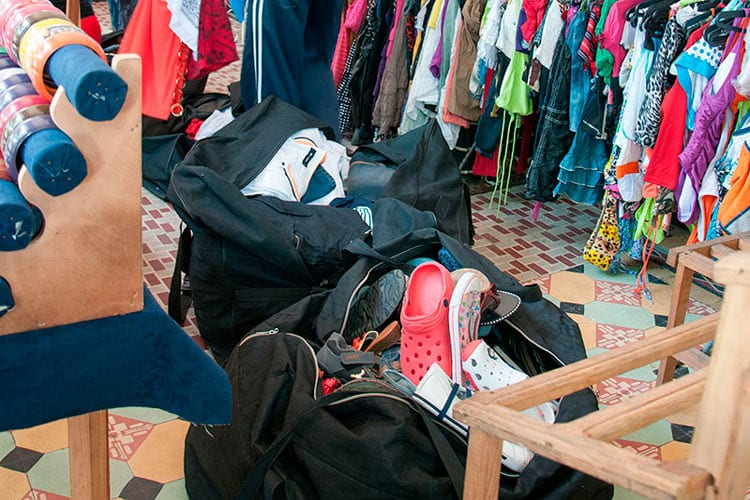 Most of the clothing sold by seamstresses is in fact second-hand clothing smuggled into the country. Photo: Raquel Perez Diaz.