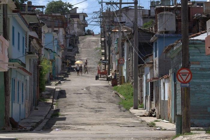 Street in Regla across Havana Bay.