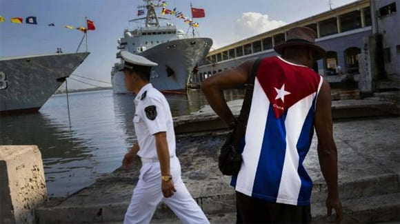 Chinese war ships arrive in Havana for exercises with the Cuban Navy.