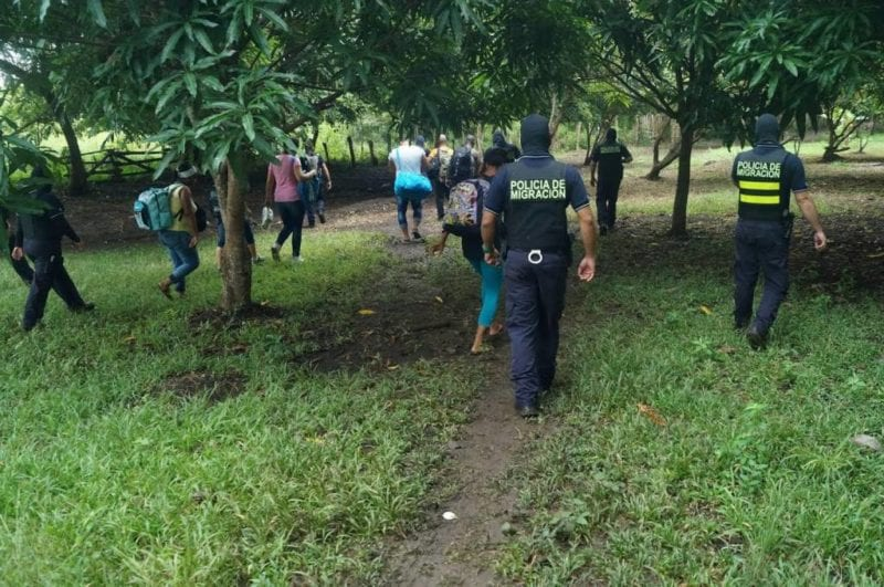 Cubans being rounded up by Immigration Police in Costa Rica