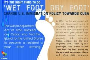 Wet foot, dry foot. Ilustration: telesur.net