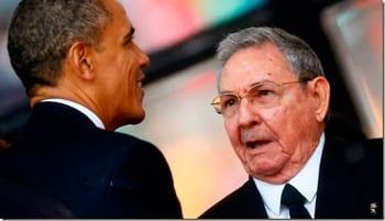 Presidents Barack Obama and Raul Castro. File photo
