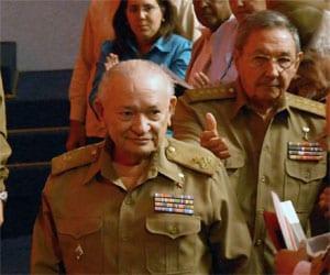Commander Guillermo Garcia Frias with General Raul Castro