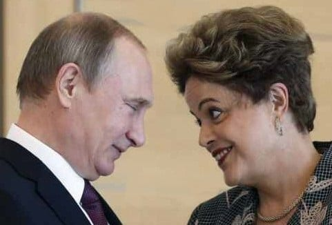 Putin and Dilma Rousseff, the embattled president of Brazil.